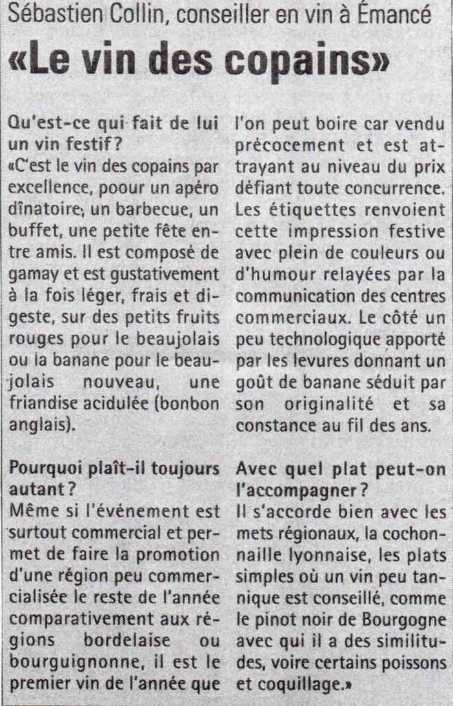 article beaujolais